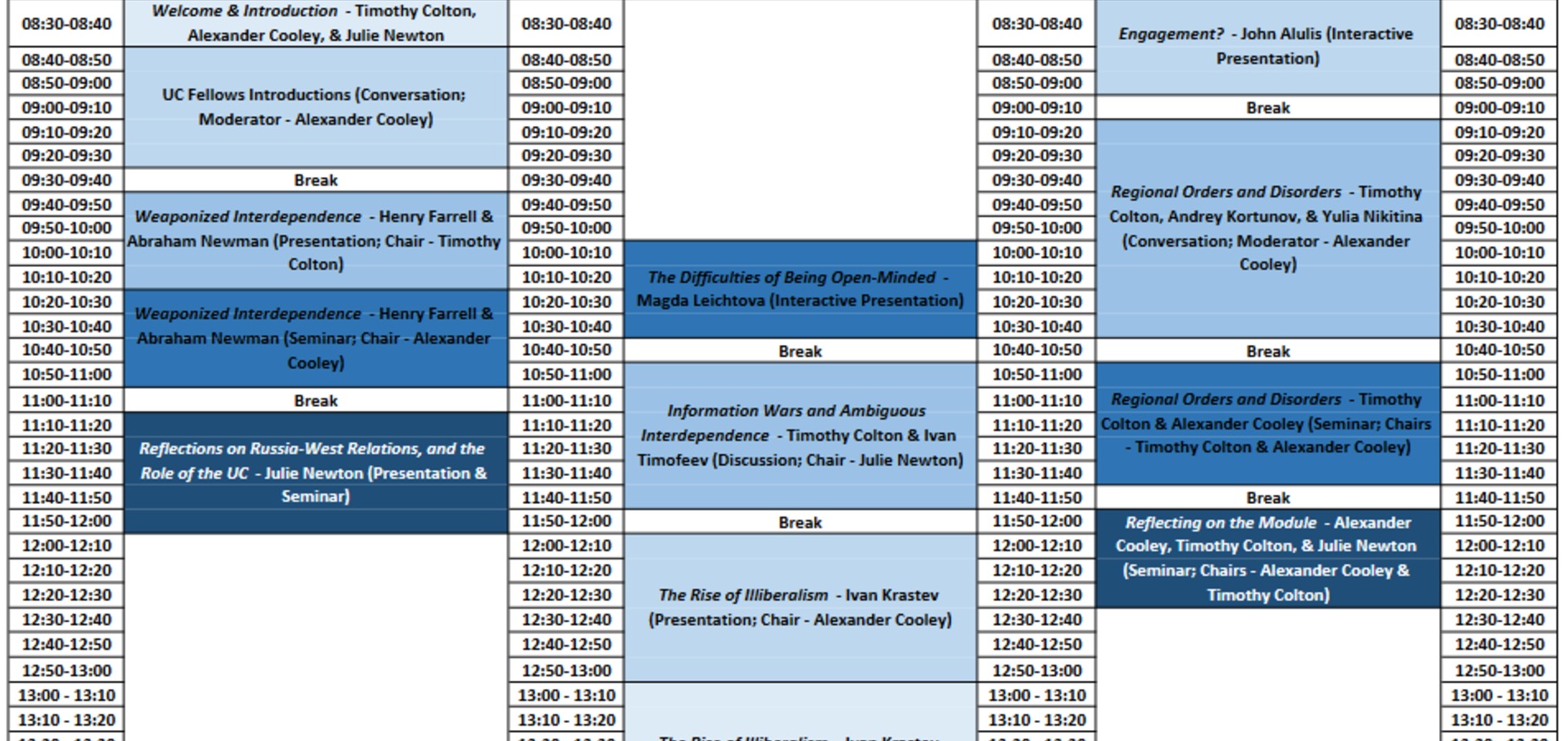 schedule module 5 2