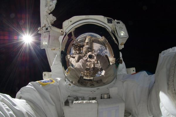 Astronaut reflection